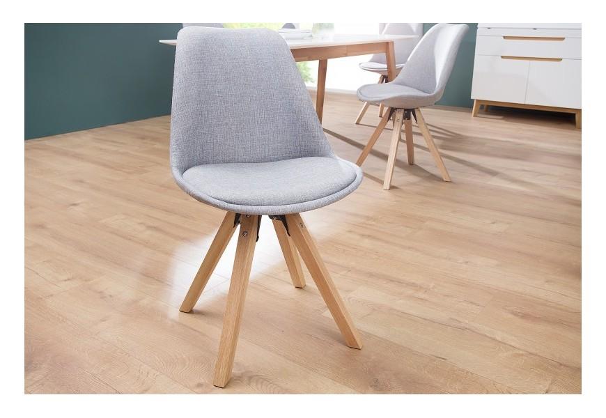 Dizajnová stolička Scandinavia šedá