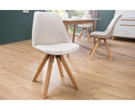 Dizajnová stolička Scandinavia béžová
