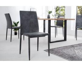 Dizajnová jedálenská stolička Milano antická šedá