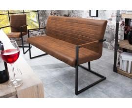 Dizajnová prešívaná lavica Imperial 160cm hnedá