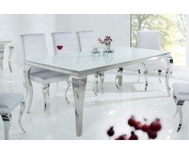 Luxusný jedálenský stôl Modern Barock 200cm strieborná/biela
