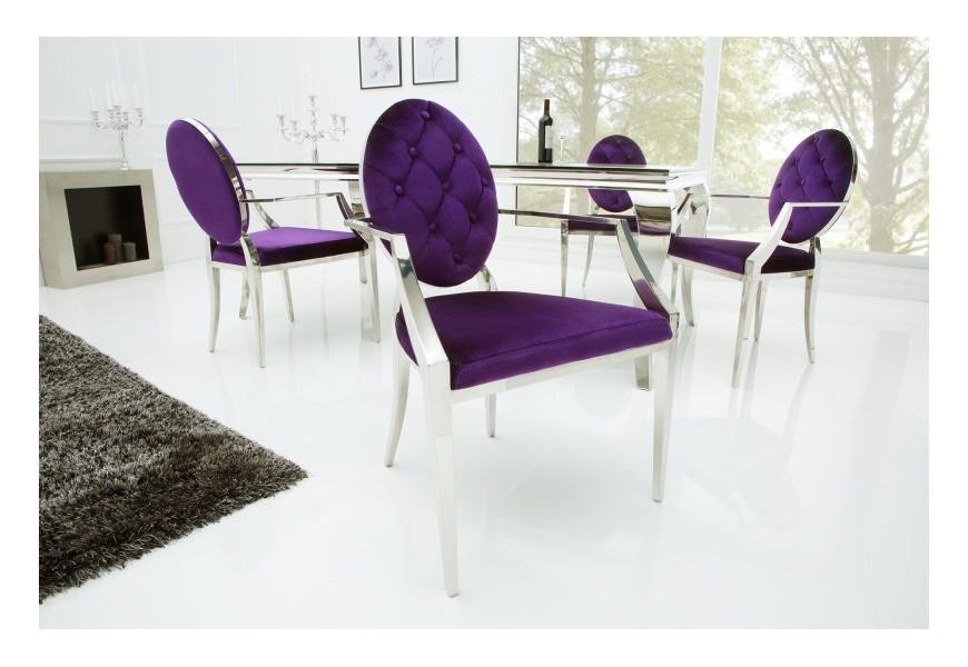 Luxusná stolička Modern Barock fialová