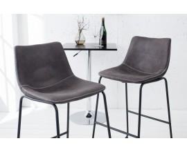 Dizajnová barová stolička Django vintage šedá