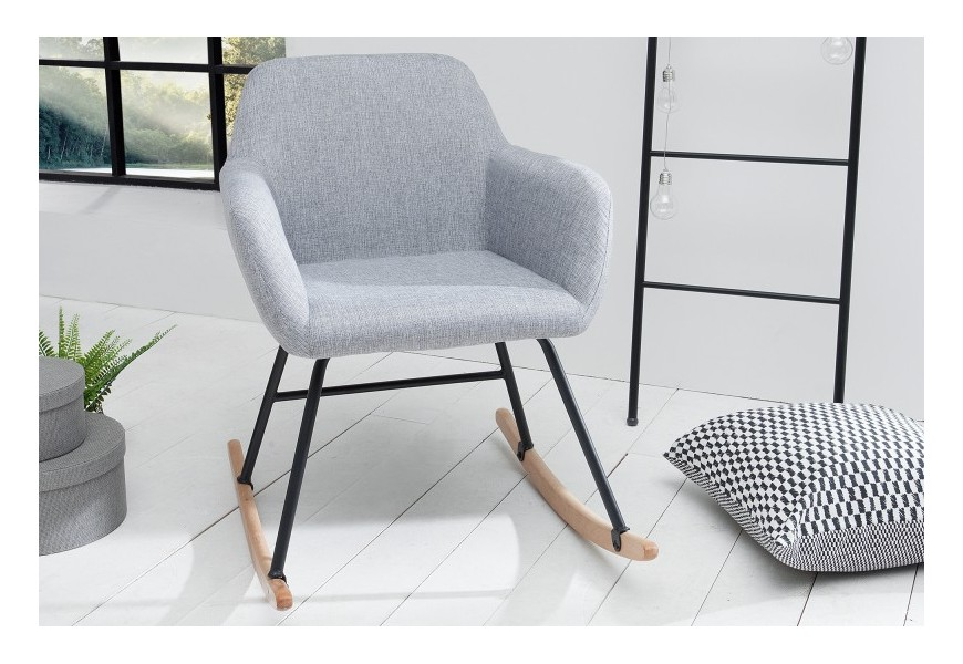 Dizajnová hojdacia stolička Baltic svetlo šedá