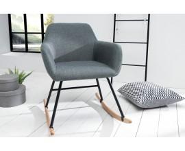 Dizajnová hojdacia stolička Baltic tmavošedá