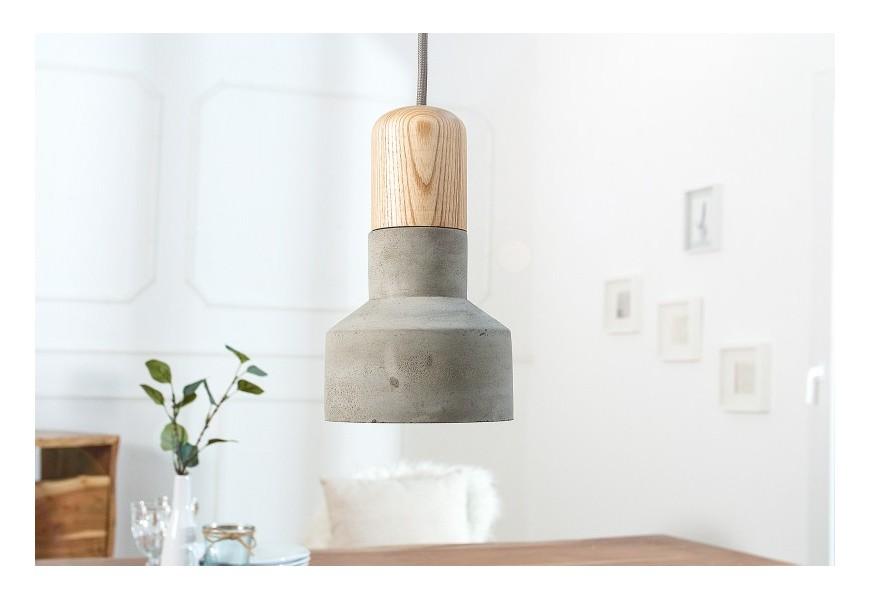 Dizajnová závesná lampa Cement Fusion