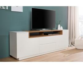 Dizajnový TV stolík Kingdom 180cm biela/dub