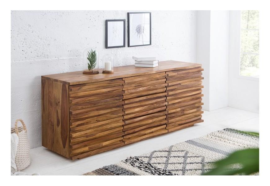 Jedinečná dizajnová komoda z masívneho dreva sheesham
