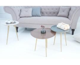 Dizajnový set troch príručných stolíkov