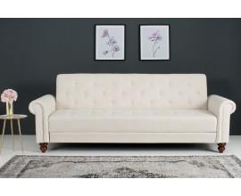 Štýlová rozkladacia sedačka Maison Belle 225cm béžová