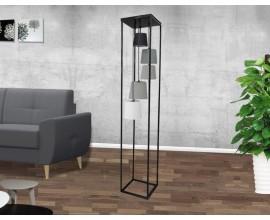 Dizajnová stojaca lampa Levels II čierna/šedá