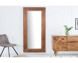 Štýlové masívne zrkadlo Hemingway z recyklovaného dreva 180x80