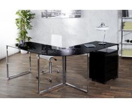 Luxusný elegantný pracovný stôl Big Deal čierny