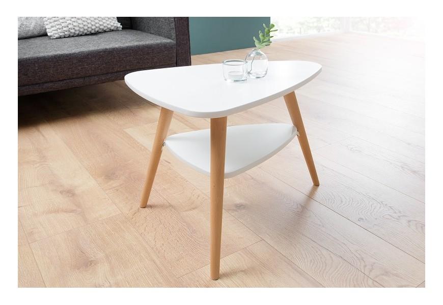 Dizajnový príručný stolík Scandinavia biely