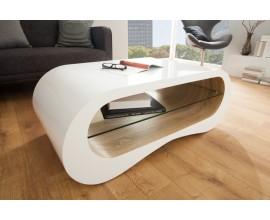 Dizajnový moderný konferenčný stolík Manhattan 110cm biela/dub