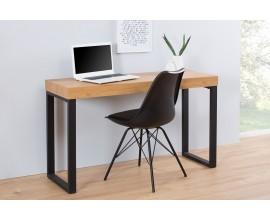 Dizajnový moderný pracovný stôl 120cm čierna/dub