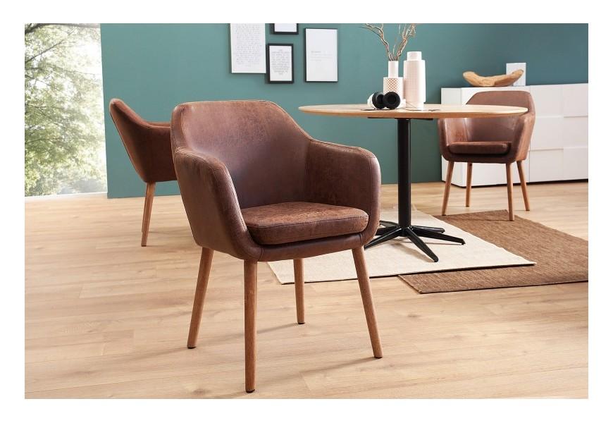 Dizajnová retro stolička Dagean hnedá