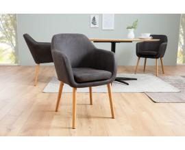 Dizajnová retro stolička Dagean šedá