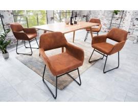 Dizajnová stolička Mustang hnedá