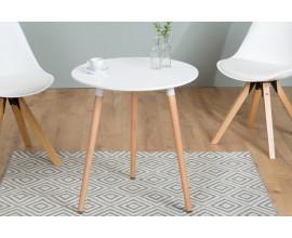 Dizajnový príručný stolík Scandinavia 60cm biely