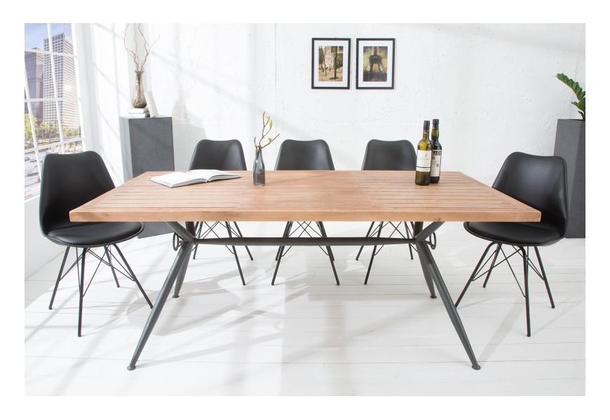 Dizajnový industriálny jedálenský stôl Craft z masívu 180 cm