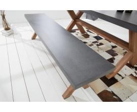 Štýlova industriálna lavica Cement 180cm