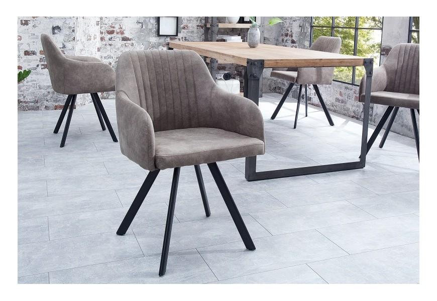 Dizajnová vintage stolička Lucca taupe