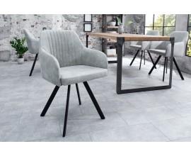 Dizajnová vintage stolička Lucca šedá