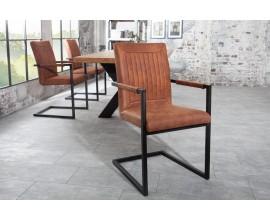 Dizajnová jedálenská stolička Bristol svetlohnedá