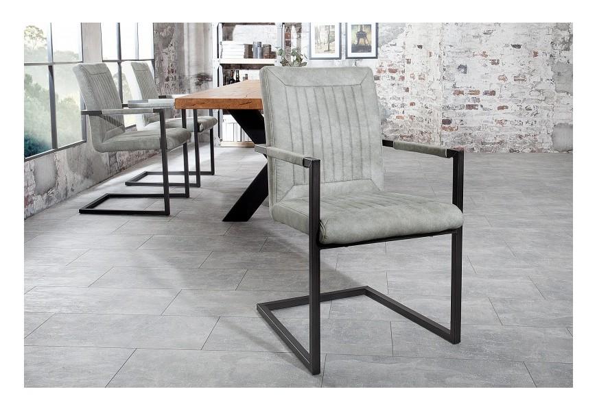 Dizajnová jedálenská stolička Bristol šedá