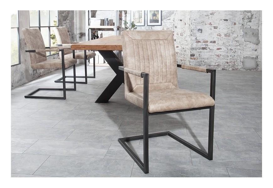 Dizajnová jedálenská stolička Bristol béžová