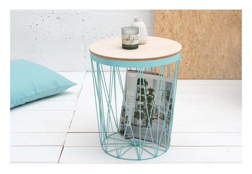 Dizajnový príručný stolík Storage II mentolová