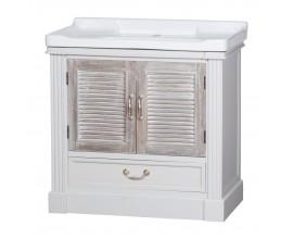 Dizajnová provensálska kúpeľnová skrinka s umyvadlom Liberty
