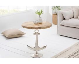 Dizajnový príručný stolík z masívu Kotva 56 cm