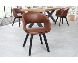 Dizajnová škandinávska stolička Nordic Star hnedá