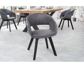 Dizajnová škandinávska stolička Nordic Star tmavosivá