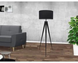 Dizajnová stojaca retro lampa Tripod čierna