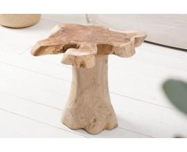 Dizajnový príručný stolík Teak Root 40cm