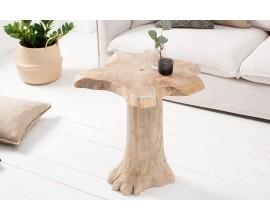Dizajnový príručný stolík Teak Root 60cm