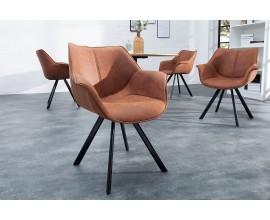 Dizajnová stolička Dutch Retro antická hnedá