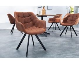 Dizajnová retro stolička Dutch Courturier antická hnedá