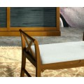 Štýlová biela lavica Fontana