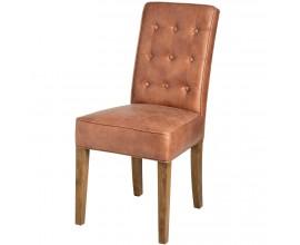 Dizajnová jedálenská stolička TAN hnedá
