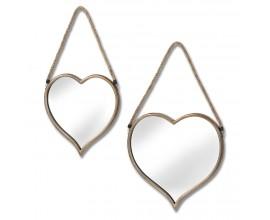 Set dvoch štýlových zrkadiel Heart