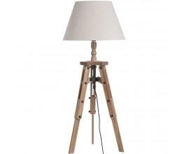 Dizajnová drevenná Tripod stolná lampa