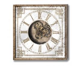 Dizajnové štvorcové nástenné hodiny 60cm