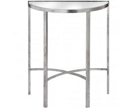Dizajnový zrkadlový polkruhový stolík