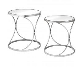 Dizajnový zrkadlový set príručných stolíkov