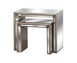 Luxusný zrkadlový set príručných stolíkov ORLEANS