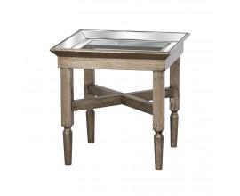 Luxusný zrkadlový príručný stolík ASTOR